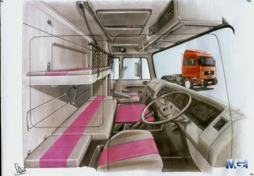 Semi Truck Sleeper Cab Interior http://www.shado.co.uk/portfolio/design.php?id=111